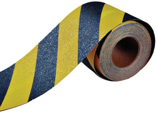 Durable Corporación cinta antideslizante, 2.5cm de ancho x 720' de largo, negro con rayas de color amarillo