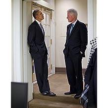 PRESIDENT Barack Obama & Bill Clinton 8 x 10 GLOSSY Photo Picture