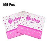 Coxeer 100PCS Baby Birthday Napkin Paper Napkin Creative Beverage Napkin for Baby Shower Party