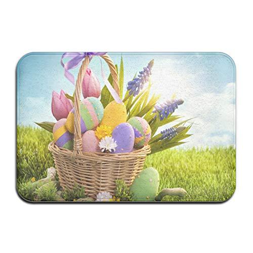 (Easter Aboard Entrance Door Mat, 50x80 cm Winter Durable Duty Front Outdoor Rug, Non-Slip Welcome Doormat for Entry, Patio 50x80 cm)