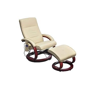 Vidaxl Massagesessel Fernsehsessel Mit Hocker Relaxsessel Tv Sessel