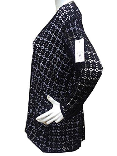 fashionfolie Femme Gilets Grande Taille 44 46 48 50 52 54 56 Dentelle Haut Top Grande Taille Vêtement Noir