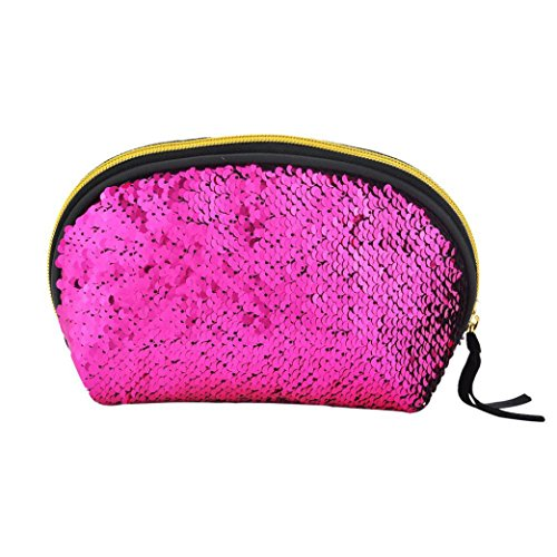 Pink Hot Sequins Color Lavany Wallet Women Double Handbag Women Cluthes Zipper Bag Bag for q77afFOxW