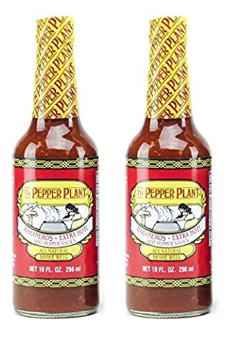 The Pepper Plant Habanero Extra Hot California Style Hot Pepper Sauce 10 oz (Pack of 2)