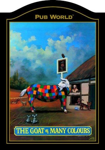 Cabra de muchos colores PUB británico tradicional señal: Amazon.es: Hogar