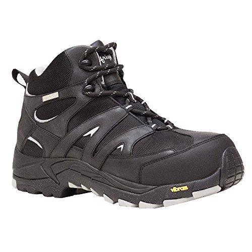 RefrigiWear Men's Crossover Hiker Waterproof Lightweight Work Boot (Black, Size 13) - Driver Leather Boot