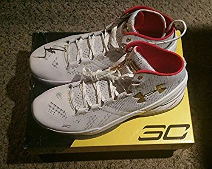 ef8cabcd9b8 Stephen Curry Signed Autographed Under Armour Shoe Size 13 LOA - JSA  Certified - Autographed NBA