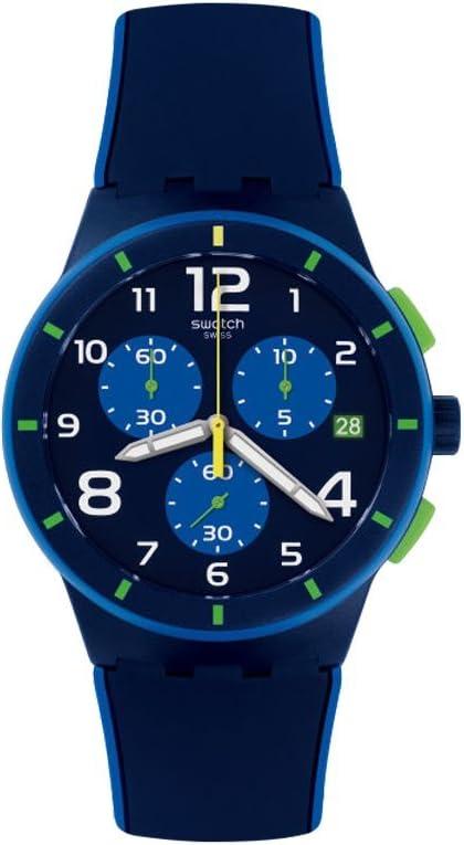 見本メンズクロノプラスチックsusn409ブルーSilicone Quartz Watch