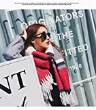Generic School autumn and winter warm spell color hit color knit wool scarf fringed shawl imitation burr