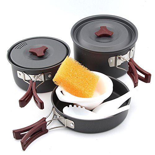 FireMaple Pot and Frying pan Camping Cooking Set Camp Cookware Picnic Outdoor Cutlery (FMC202)