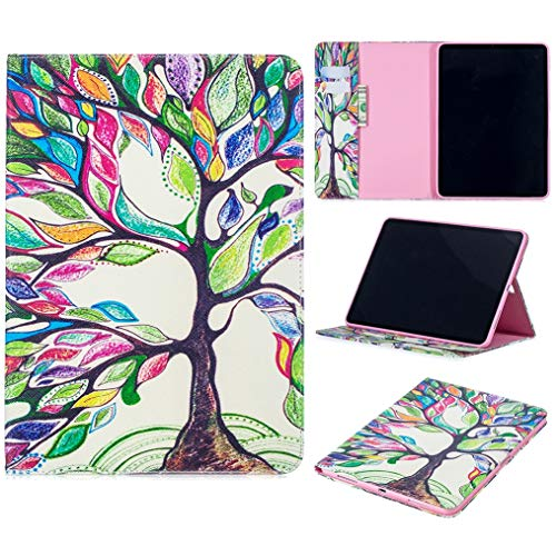 iPad Pro 11'' Case 2018, iYCK PU Leather Flip Folio [Card Slot] Protective Shell Wallet Case Cover with Stand Kickstand for Apple iPad Pro 11inch 2018 Release Tablet - Tree and Leaf
