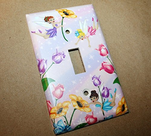 Fairy Girls Bedroom Light Switch Cover LS0019 (Single Outlet) Toad and Lily LS0019c