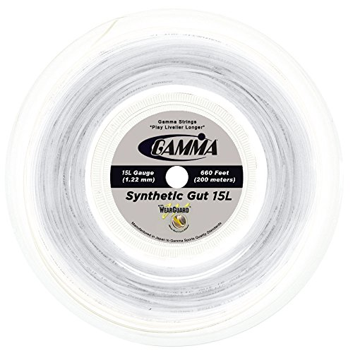 (Gamma Sports 15g Synthetic Gut with Wearguard Tennis String 660' Reel,)