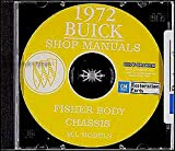 A MUST FOR OWNERS, MECHANICS & RESTORERS - THE 1972 BUICK COMPLETE FACTORY REPAIR SHOP & SERVICE MANUAL & FISHER BODY MANUAL CD COVERS: Skylark, GS, Estate Wagons, Le Sabre, Centurion, Electra, and Riviera. 72