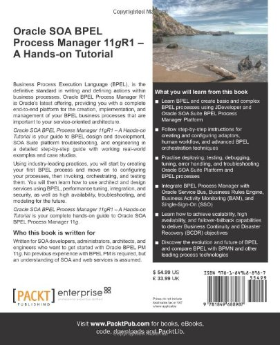 Oracle SOA BPEL Process Manager 11gR1 – A Hands-on Tutorial by Packt Publishing
