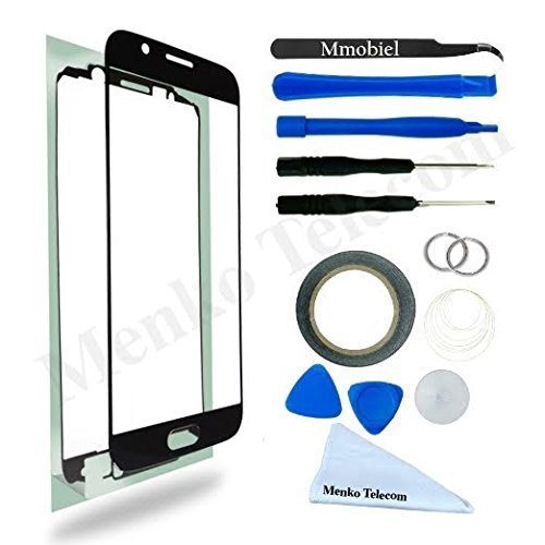 MMOBIEL Front Glass for Samsung Galaxy A5 A510 (2016) Series (Black) Display Touchscreen incl 12 pcs Tool Kit/Pre-cut Sticker/Tweezers/Roll of Adhesive Tape/Suction Cup/Wire/cleaning cloth