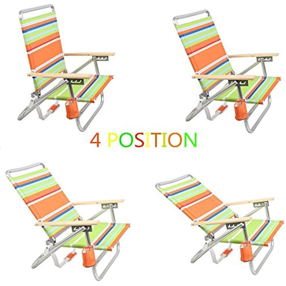 Aluminum Lightweight Chairs 4 Way Hi Back Folding Beach