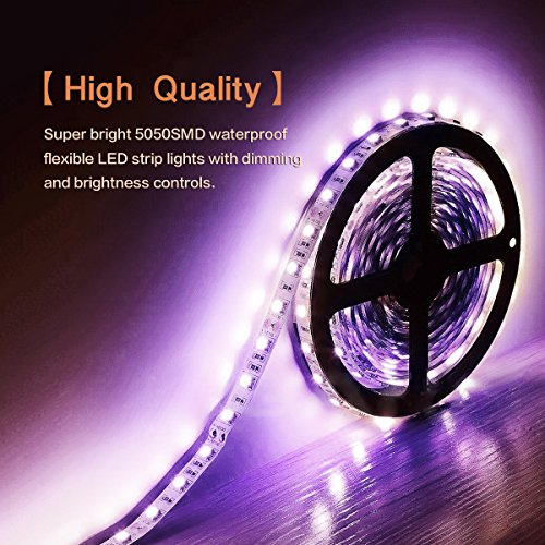 MEILLY-Led-Light-Strip-Battery-Powered-2M66FT-IP65-60pcs-5050-Leds-Light-Strip-Waterproof-Led-Multi-Color-Changing-RGB-light-strip-Rope-Flexible-Lightings-Strip-with-Mini-Remoter