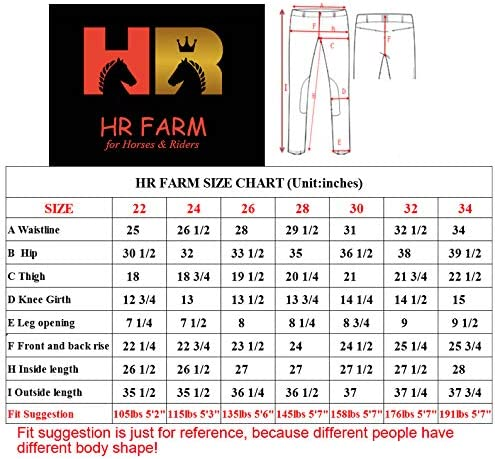 HR Farm Ladies Side Pocket Full Seat Silicone Women Riding Breeches
