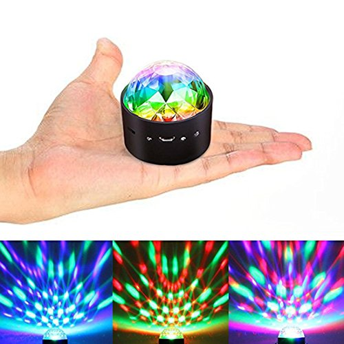 Alotm Disco Ball Night Light Party Light LED DJ Stage Magic Strobe Light Sound Activated Light With Remote Control 3W RGB Colorful For Party Kids Birthday Xmas Karaoke Club Bar Holiday Dance Wedding (Audible Strobe Light)