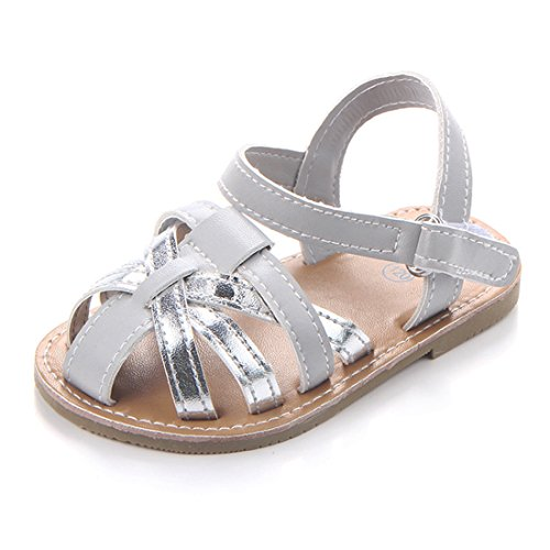 Wrap Rubber Leather Sole (Beeliss Baby Sandals Rubber Sole Summer Shoes (12-18 Months, Grey))