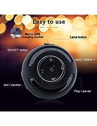 Djtanak   Altavoces Bluetooth para exteriores, con linterna LED con sonido estéreo, exclusivo, tiempo de reproducción largo, IP65, resistente al agua, lámpara de escritorio inalámbrica de Navidad para iPhone, Samsung