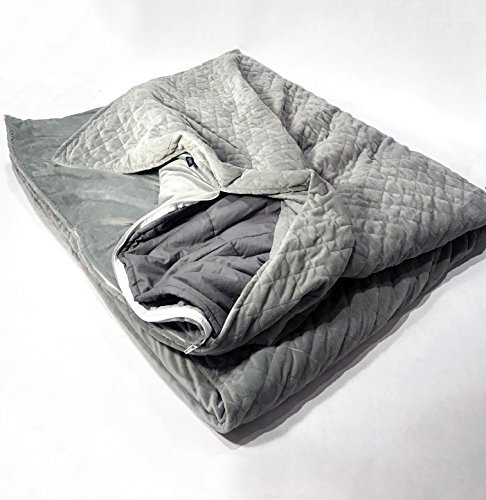 Weighted Blanket with Removable Micro-Fleece Cover by Hypnos - 60' x 80' 15 lbs.