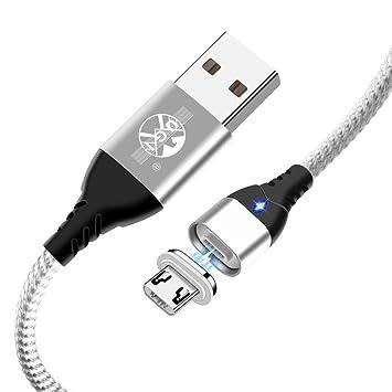 Cable Magnético 3A Cable de Cargador Micro USB, Indicador ...