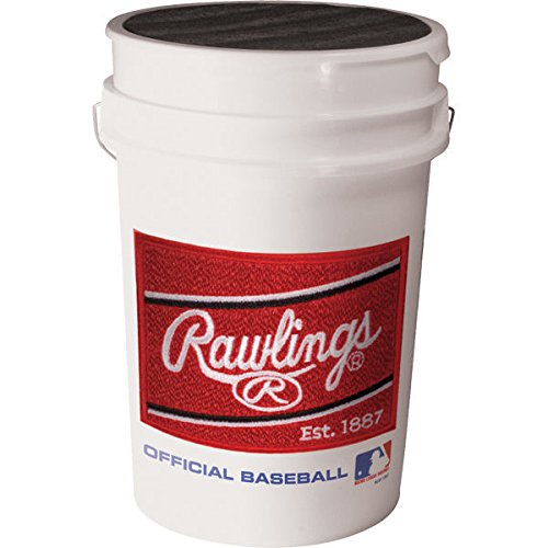 Rawlings Official League Baseballs & Bucket, 24 Count Rawlings Sporting Goods AMAPRAC5GBUCK24