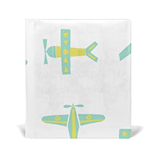 Deziro Cartoon Planes Book Covers Fits Hardcover Textbooks fino a 9x 11in
