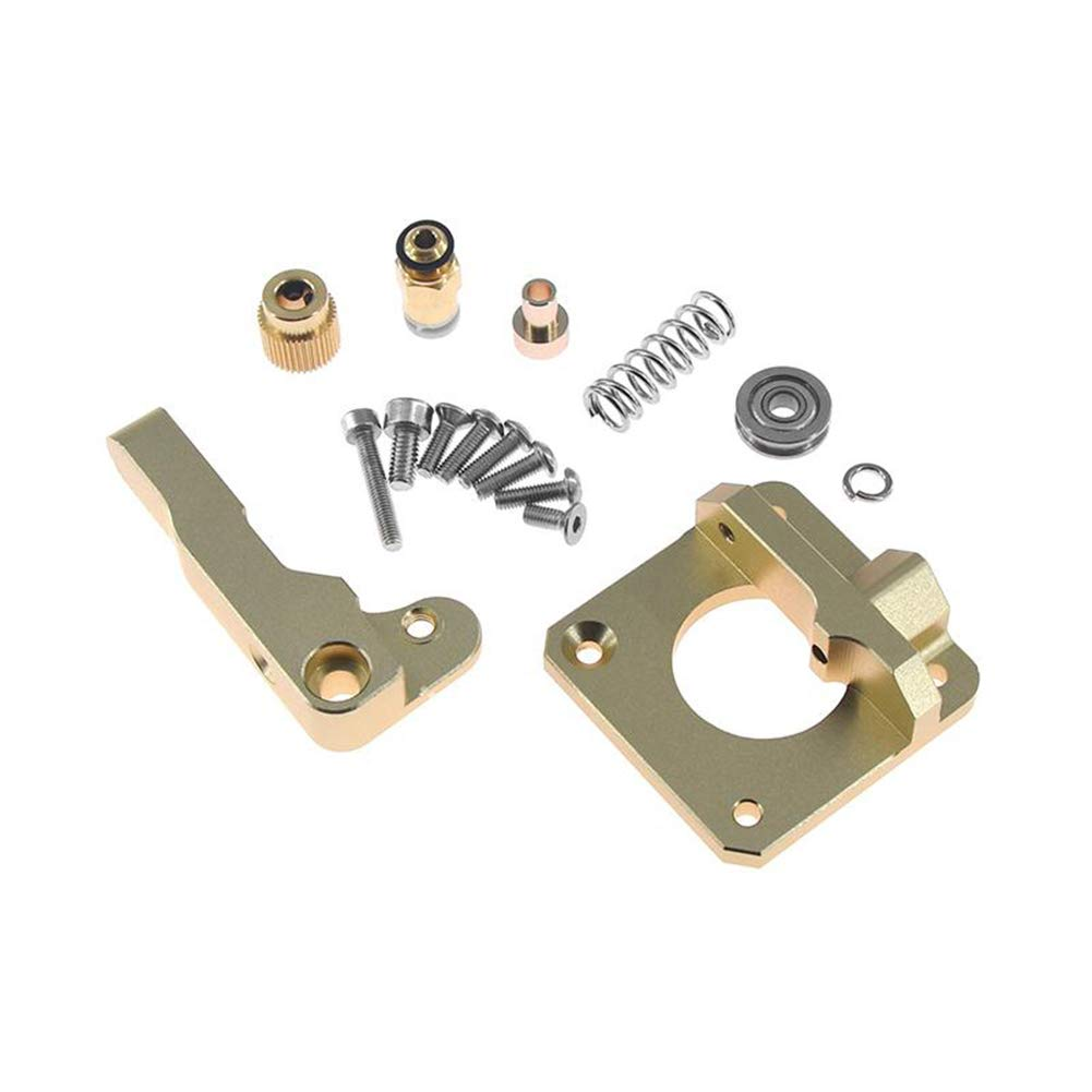 Gold, Left Hand Usongshine CR10 Extruder Upgraded Aluminum MK8 Drive Feed 3D Printer Extruders for Creality 3D CR-10 CR-10S RepRap i3 1.75mm 3D Parts DIY