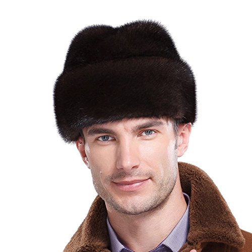 URSFUR Mink Full Fur Russian Cossack Hat (One Size, Natural Color) by URSFUR