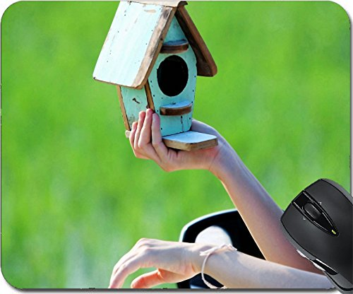 Msd Mousepad Mouse Pads Mat Design 21567170 Woman Holding Bird House Outside Window S Car