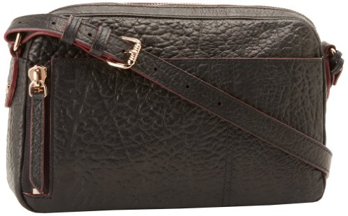 OH by Joy Gryson Women's Unzipped Embossed Cross-Body, Black, One Size, Bags Central