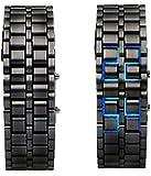 MVS Digital Blue LED Black dial Wrist Watch