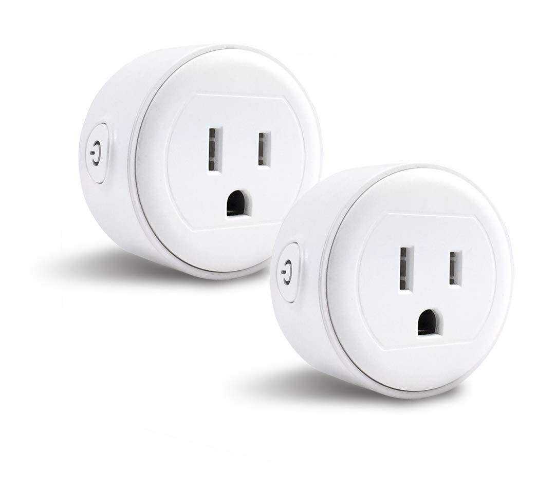 GoldenDot WiFi Mini Plug, Smart Home Power Control Socket, Wireless Control Your Household Appliance from Anywhere, No Hub Required, Compatible with Amazon Alexa and Google Home (2Pack)