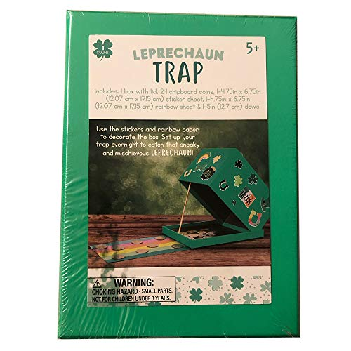 Kids Leprechaun Trap Activity for St. Patrick Day! Design and Build Easy to Assemble! Have Fun with Your Kids Setting Trap for Leprechaun!