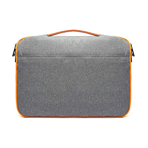 Ge-Store Wapterproof 13 15 Inch Laptop Briefcase Bag for MacBook Asus Dell Hp Laptop Sleeve Bag,Gray,13 Point 3 Inch