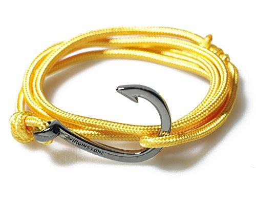 VIRGINSTONE Gun Gray Round Hook On Colorful Nylon Ropes Maritime Nautical Style (Dragon)
