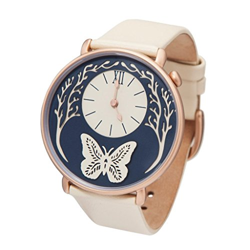 (Dial by Sarah Dennis (Rose Gold) - Artist Designed Women's Watch with 2 Straps! )
