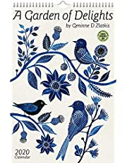 """Geninne Zlatkis 2020 Poster Art Wall Calendar: A Garden of Delights (10.75"""" x 16"""")"""