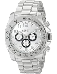 August Steiner Mens AS8095SS Swiss Quartz Multifunction Silver-tone Dial Silver-tone Bracelet Watch