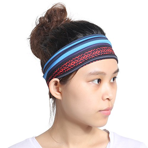 Women headband - Sweat Wicking Turban Elastic No Slip Fashion Multi Style Head Wrap Hair Band for Yoga Running Tennis Sports & Premium Quality -  Guangzhou Qinglonglin Garment CO,.LTD, QL-JH-J-Y-01-