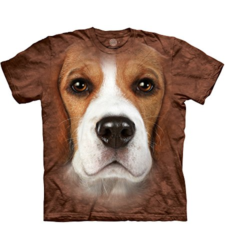The Mountain Beagle Face Adult T-Shirt, Brown, - Face Beagle