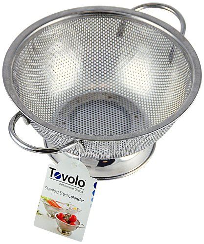 Tovolo Large Perforated Colander, Stainless Steel
