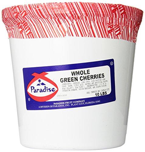 - Paradise Whole Green Cherries, 10 Pound Tub