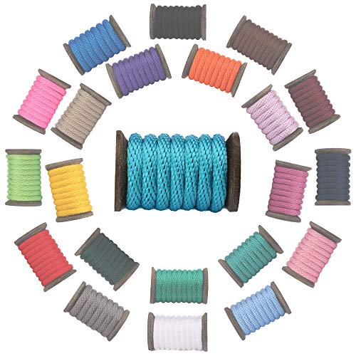 Braided Nylon Tack - Ravenox Solid Braid Utility Rope | (Turquoise)(1/2 inch x 25 feet) | Made in the USA | All Purpose Solid Braid Cord for Crafts, Sports, Landscaping, Horse Tack, Pets & Décor | Multiple Colors & Sizes