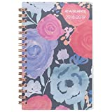 """AT-A-GLANCE Academic Weekly/Monthly Pocket Planner, July 2018 - June 2019, 3-7/8"""" x 6-1/8"""", Midnight Rose, Floral (1101-300A)"""