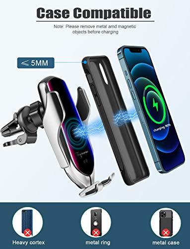 Samsung S10 S10plus// S9 S9plus// S8 S8plus etc Wireless Car Charger Mount,Auto-sensing Air Vent Car Phone Mount Wireless Charger Compatible with iPhone 11 Pro Max Xs X XR 8plus