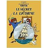 Poster Moulinsart Album de Tintin: Le secret de la Licorne 22100 (70x50cm)